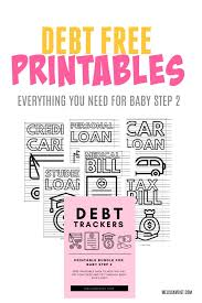 Free Printable Debt Free Charts Debt Trackers For Baby Step 2 Melissa Voigt