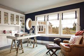 stylish home office. Exellent Office 2Darkbluewallsbringchiceleganceto To Stylish Home Office M
