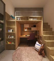 Floating Loft Bed Amazing Bunk Bed With Desk Kids Contemporary Interior Designs With