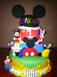 6 Birthday Of Mickey Mouse 1st Birthday Cakes For Boys Photo Baby