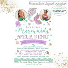 invitation for a party 7 adorable mermaid party invitations for your next birthday bash