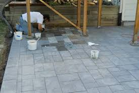 Acid Staining Concrete Patio Installation Home Ideas Collection