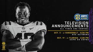 LSU Football - Two more TV assignments ...