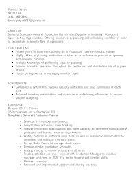 Demand Planner Resume Sample Bongdaao Com