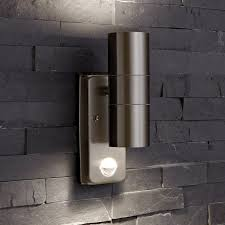 biard le mans up down wall light with pir motion sensor outdoor