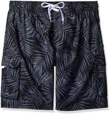 Kanu Surf Extended Size Chart Kanu Surf Mens Big Palma Extended Size Leaf Volley Swim Trunk Black 3x