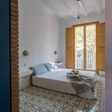 patterned tiles define rooms in