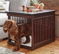 the wooden end table crate by orvis looks so good if you don t have a dog it might just inspire you to run out and adopt one constructed from sy wood