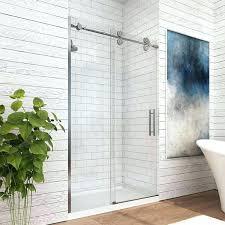 double sliding shower doors home depot barn door glass floor guide frameless