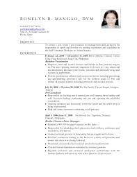 Veterinary Resume Inspiration Elegant Resume