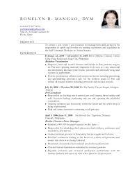Veterinary Resume Inspiration Elegant Resume