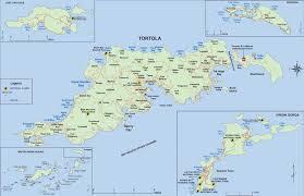 detailed map of tortola british virgin islands
