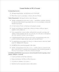 Outline Template Mla Simplish Info