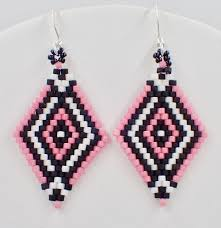 Brick Stitch Patterns Gorgeous Double Diamond Brick Stitch Earrings Instant Download Pattern Off