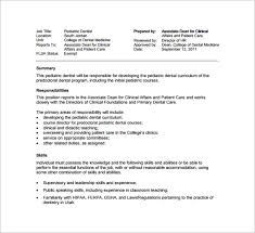 Dental Assistant Job Description Unique Resume For Dentist Job