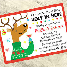 Christmas Inviations Ugly Christmas Sweater Custom Invitation