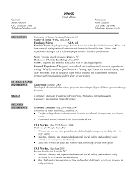 School Social Worker Sample Resume Resume For Graduate School Application Social Work Awesome Sample 6