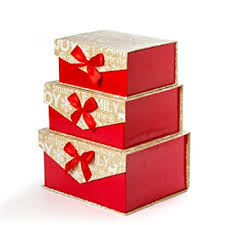 Decorative Holiday Boxes Amazon Sunbright Christmas Decorative Gift Boxes with Bows 3