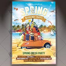 Spring Weekend Travel Premium Flyer Psd Template