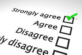 Likert scale assessment surveys