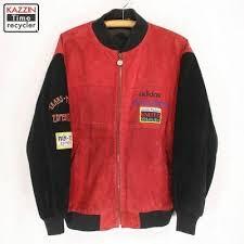 Adidas Leather Usher Raymond Gold Stripe A 15 Hip Hop Jacket