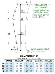 Compreflex Sizing Chart Biacare Compreflex Below Knee 30 40 Mmhg Compression Wrap