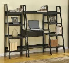 awesome leaning bookshelf desk crate barrel best home furniture design ladder bookcase desk combo