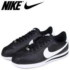nike ナイキコルテッツスニーカー cortez basic leather 819 719 012 men s shoes black black