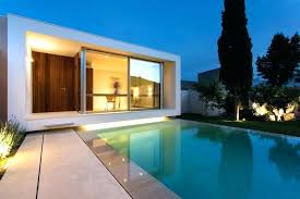 small houses with a pool a home office overlooking swimming pool was designed for this small small houses with a pool