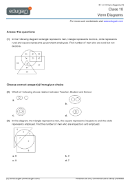 Venn Diagram Practice Sheets Grade 10 Math Worksheets And Problems Venn Diagrams