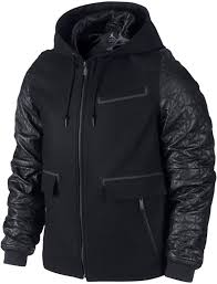air jordan leather letterman mens jacket black