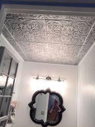 faux ceiling tiles styrofoam fl patterns in bathroom makeover painting diy crafts on styrofoam ceiling