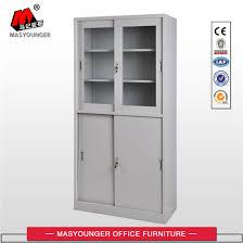 filing cabinet steel cupboard design glass door book cabinet