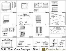 12x12 shed with garage door plans