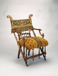 Image Chair George Jacob Hunzinger Armchair Designed 1869 Patented March 30 1869 Wood Original Upholstery Brooklyn Museum Wikipedia Upholstery Wikipedia
