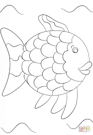 the rainbow fish template coloring pages