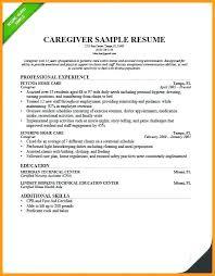 Resume For Caregiver For Elderly Best Solutions Of Sample Resume Of