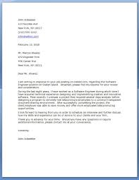 Cover Letter Software Engineer Resume And Cover Letter Resume