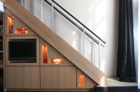 beautiful custom interior stairways. Custom Staircase With Illuminated Modern Shelves Beautiful Interior Stairways