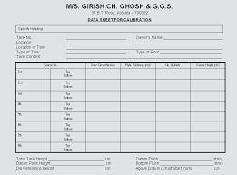 Horizontal Tank Calibration Chart Gcg2