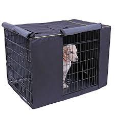 sdy pet waterproof dog kennel covers durable windproof dust proof crate cover indoor outdoor for dog cage black 41 7x27 9x29 9 inch
