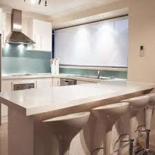 solid surface countertop sample in glacier white