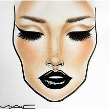 This Face Chart Is Gorgeous In 2019 Mac Face Charts