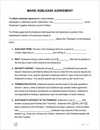 maine al lease agreement templates