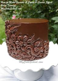 chocolate ganache cake decorations. Fine Ganache How To Make Ganache U0026 Decorate With A Beautiful Carved Effect  MyCakeSchoolcom Video Tutorial In Chocolate Cake Decorations