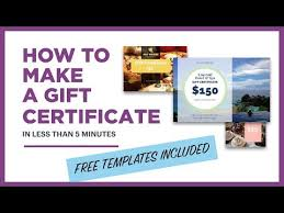 Gift Certificate Template With Logo How To Make A Gift Certificate Free Template Included