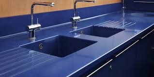 durat kitchen counter with integrated sink and drain board color 080