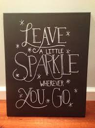 inspirational quote canvas leave a little sparkle wall art on etsy 22 00 on wall art quotes canvas with inspirational quote canvas leave a little sparkle wall art on