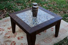 image of mosaic side table