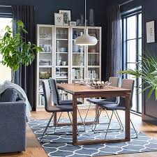 dining room ideas. Contemporary Room A Brown And Grey Dining Setting With Four Comfortable Upholstered  VOLFGANG Chairs In Chrome Inside Dining Room Ideas